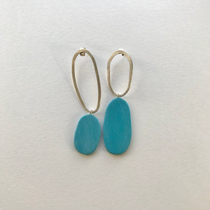 Big and Odd Earrings (Turquoise)