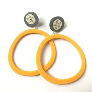Large quoit earrings