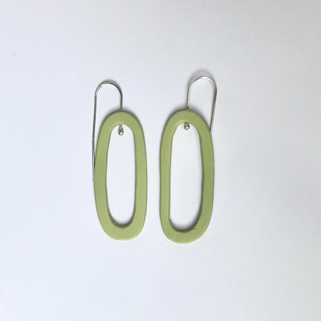 Pool earrings (sage)