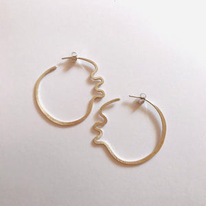 Silver Cockle Hoops