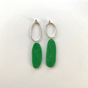 Big and Odd Earrings (green)