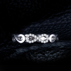 Anniversary Ring Pure 925 Sterling Silver For Women Gift