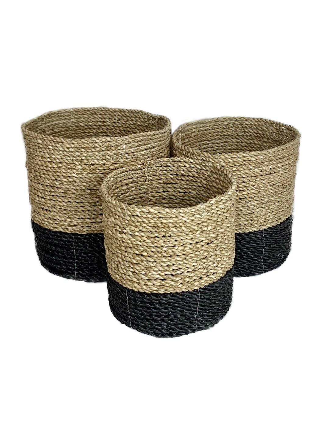 basket set laundry storage handmade woven bali ethical sustainable