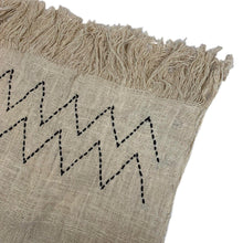 Striped Linen Throw