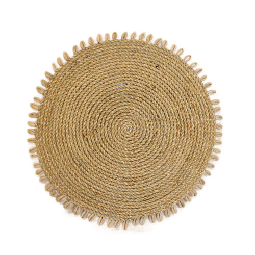 Rattan Placemat with Shells