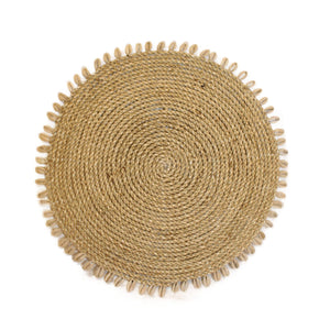 placemat shell rattan handmade bali rattan ethical sustainable decor