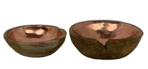 Teak Copper Bowls