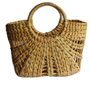 natural hyacinth beach bag handmade bali natural ethical sustainable