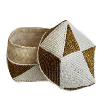 Gold and White Triangle Bali Basket