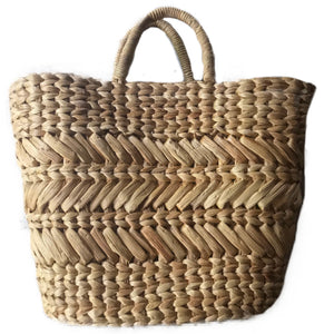 Hyacinth Woven Tote