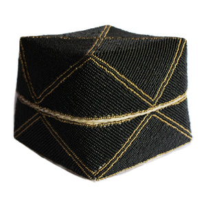 Black and Gold Bali Basket