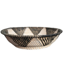 handmade rattan bowl minimalist decor black and white