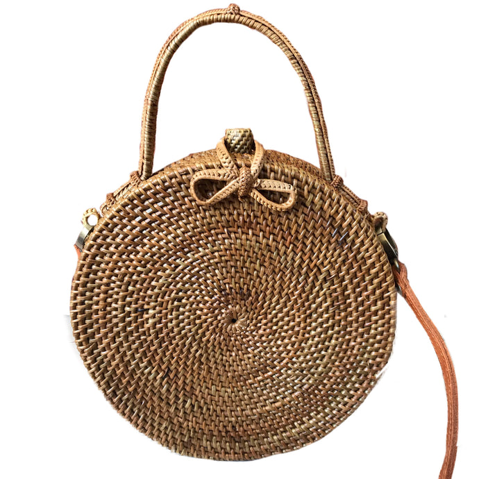 round handle handmade rattan bag bali ethical sustinable