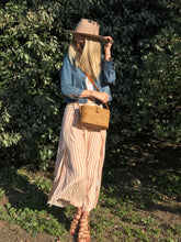 long handmade ata rattan bag bali sustainable ethical accessory