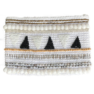 beaded shell clutch handmade bali bag accessory ethical sustainable