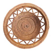 bowl handmade rattan bali natural decor sustainable ethical