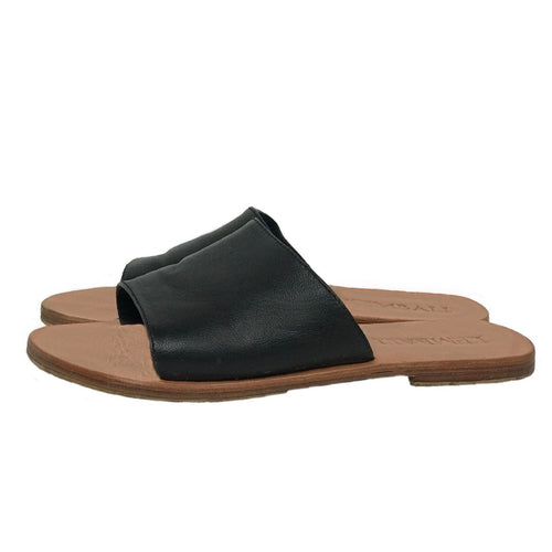 sandal black leather strap handmade bali