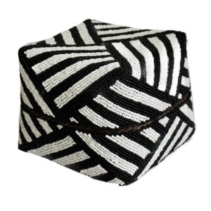 Bold Black and White Striped Bali Baskets