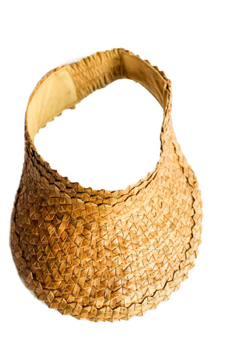 visor hat sunhat handmade bali natural ethical sustainable