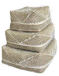Striped Shorty Bali Baskets- Set of 3