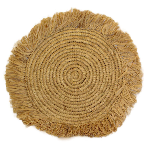 placemat raffia handmade bali rattan ethical sustainable decor