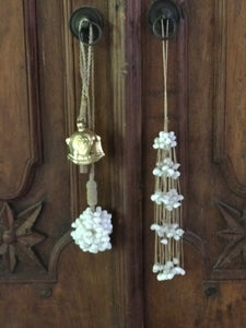 hanging bell decor door ornament bali handmade