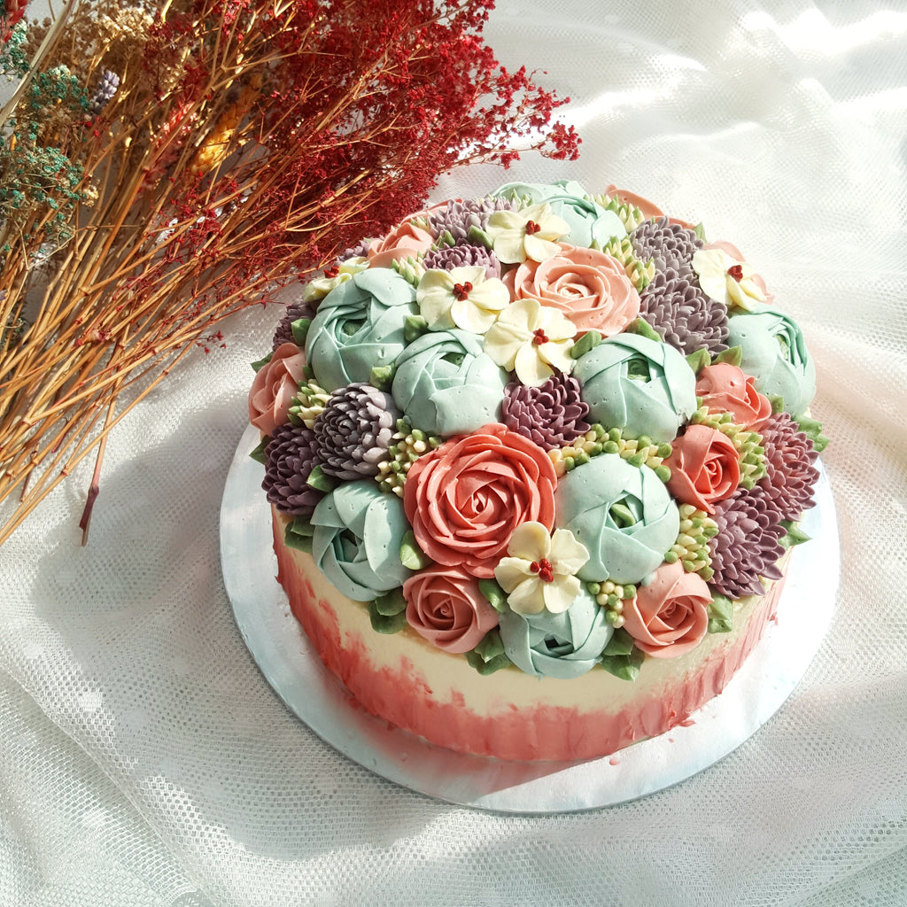 Blossom Floral Cake (9-inch)