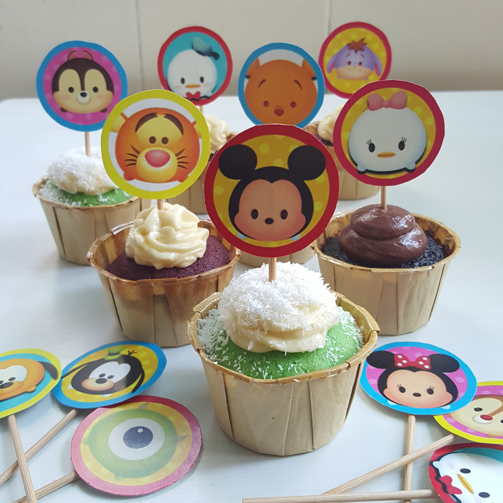 Designer Cupcakes With Topper