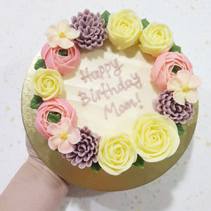 Wreath Floral Cake (4-inch)