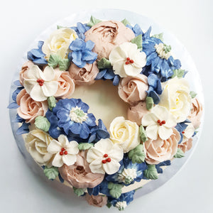 Wreath Floral Cake (9-inch)