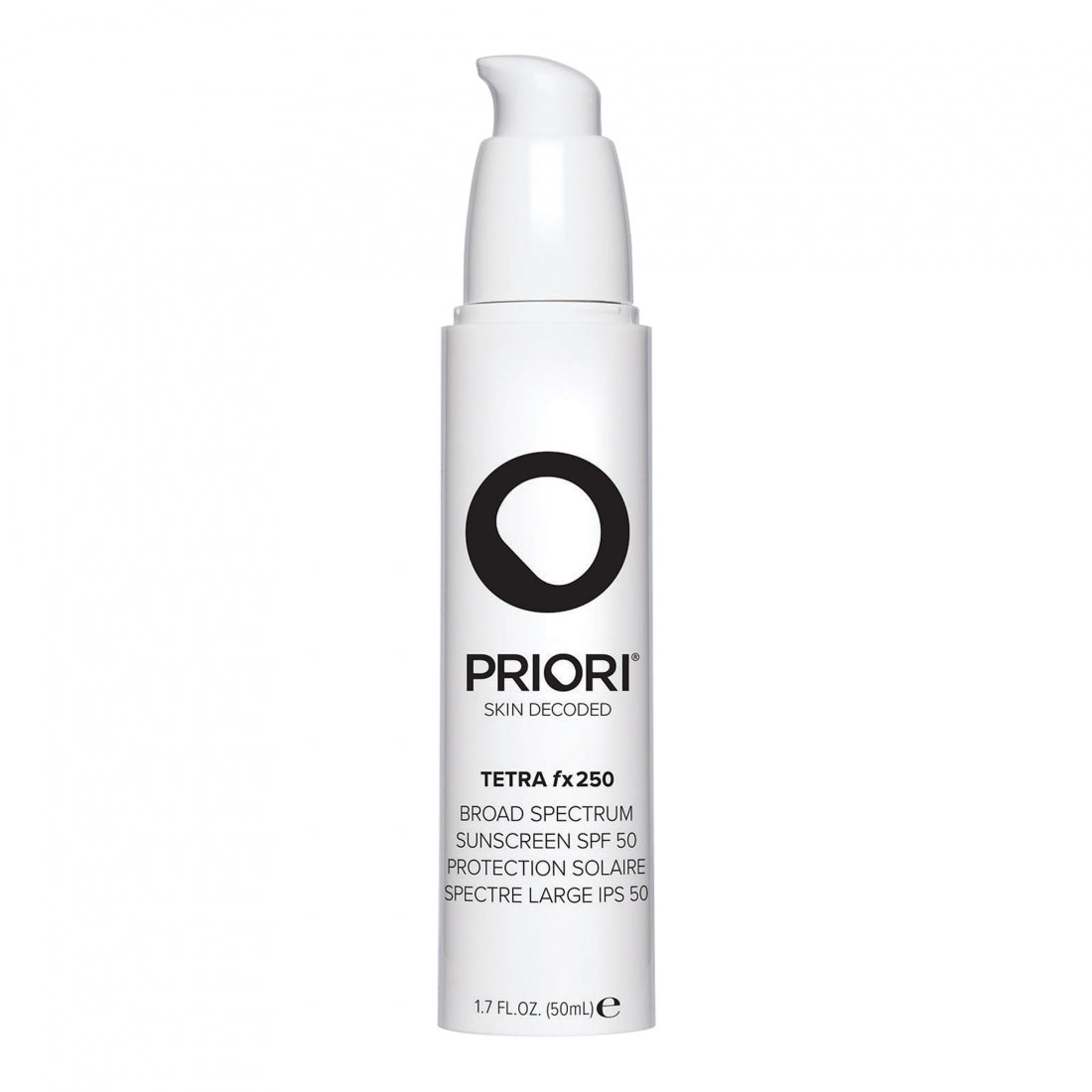Priori TETRA - fx250 SPF45 Broad Spectrum Universal 50ml