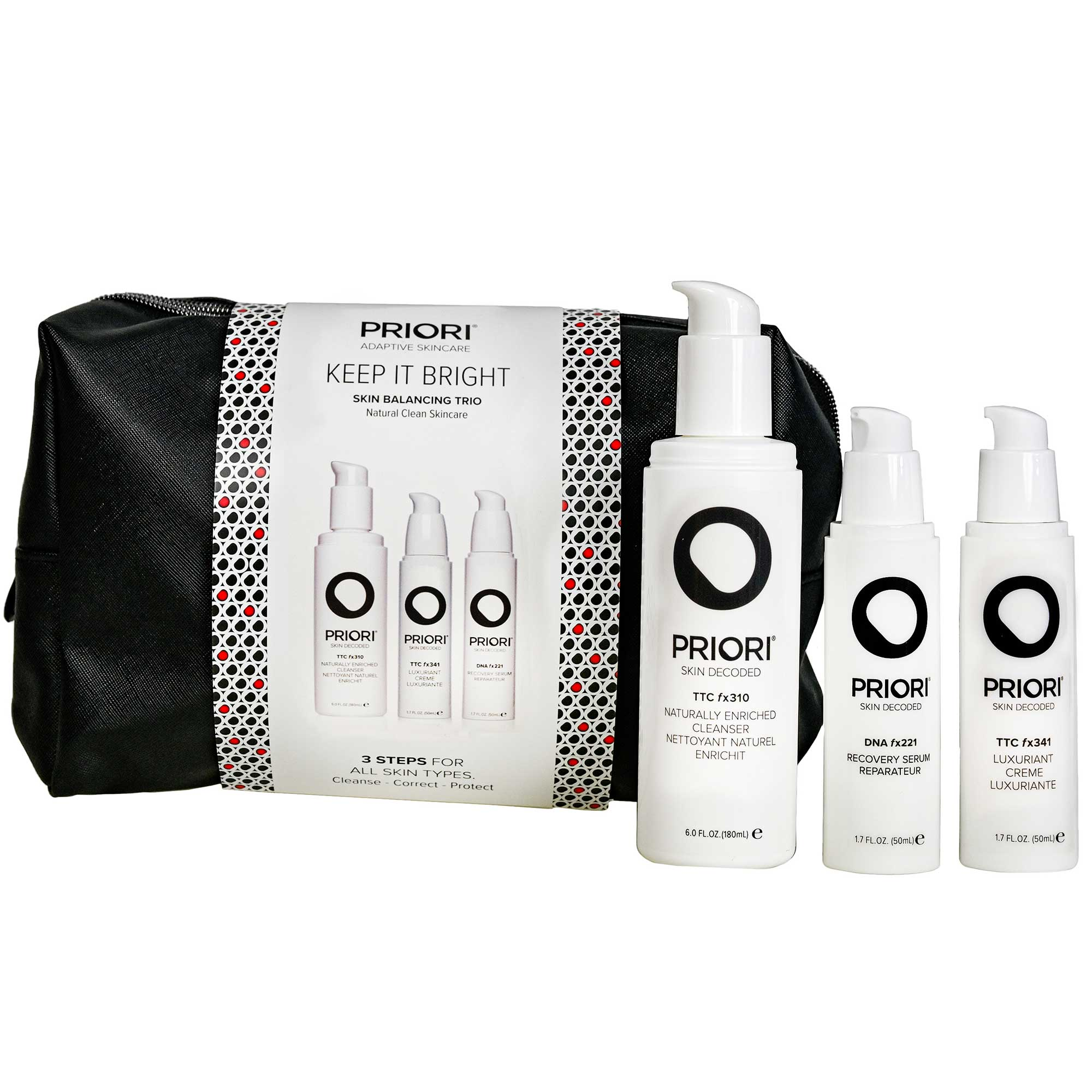 Priori Keep It Bright Skin Balancing Trio 1stk