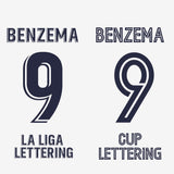 Real Madrid Home 20-21 Lettering Style