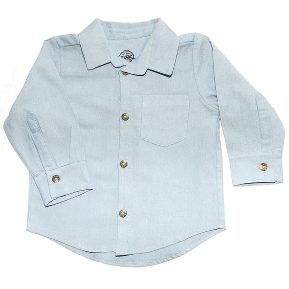 Shirt / Boys - Long Sleeve Denim Chambray  - M0364