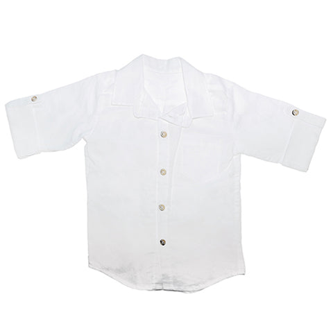 Shirt / Boys - White - M0376