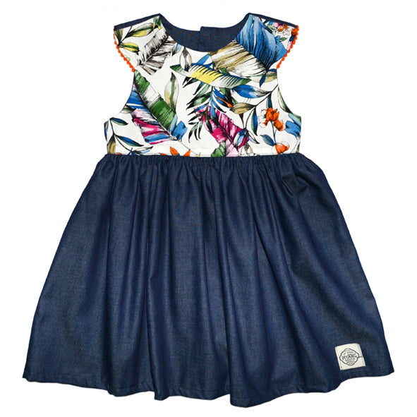 Dress / Girls - Denim and Tropics - M0379