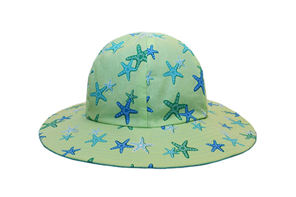 Hat / Unisex - Lime Starfish - M0441