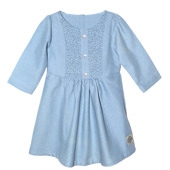 Dress / Girls - Denim Chambray - M0363