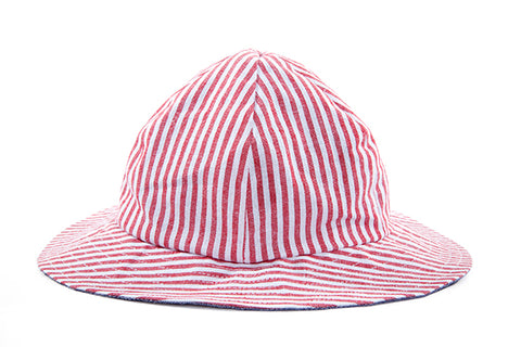 Hat / Unisex - Nautical Stripe and Denim - M0035