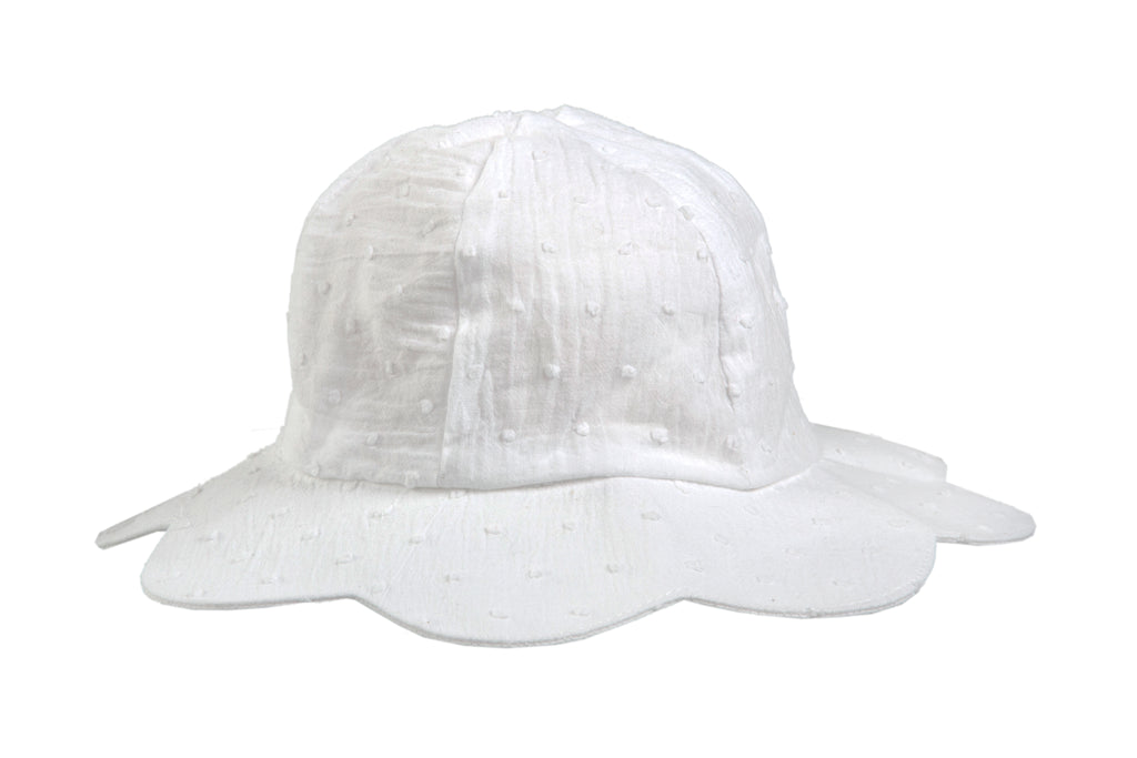 Hat / Girls - White Petal - M0036