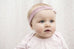 Knotted Headband / Girls - Pink and White - M0047
