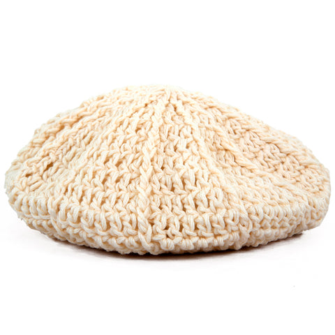 Winter Beanies / Girls - Beret Cream - M0083