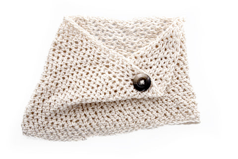 Winter Snoods / Girls - Cream Folded - M0116