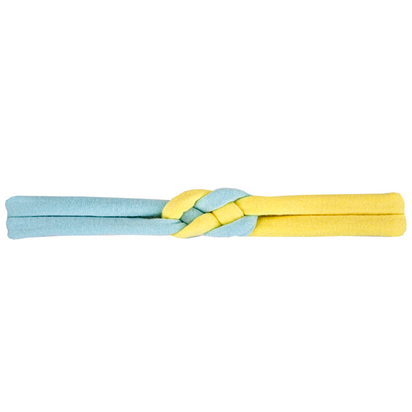 Knotted Headband / Girls - Sky Blue and Yellow - M0196