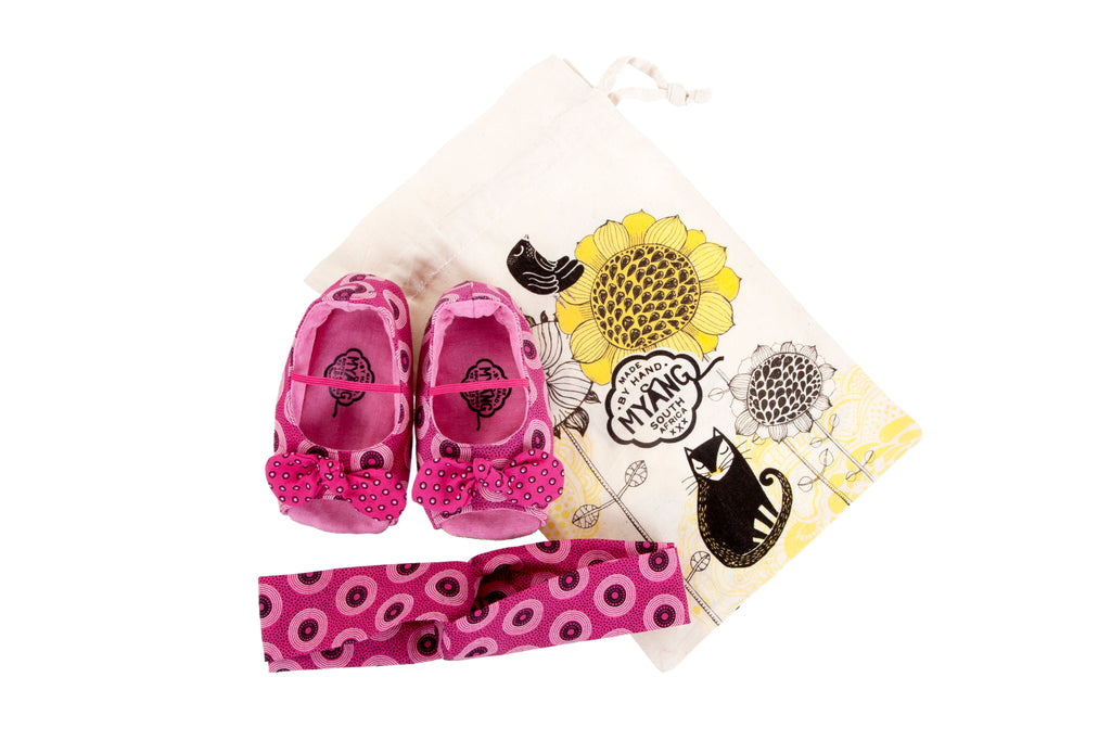 Sets / Girls - Peep toe Flamingo Shoes and Flamingo Headband - M0240