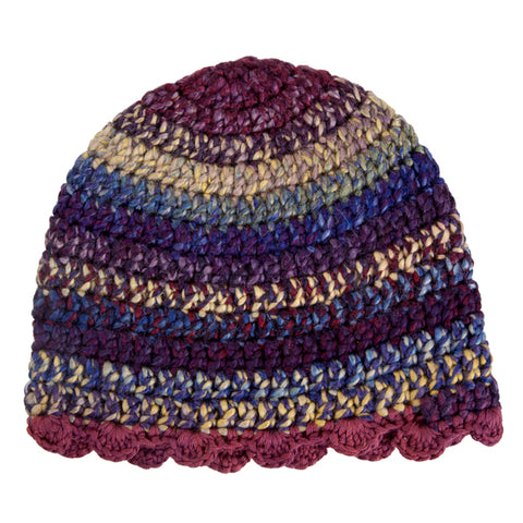 Winter Beanies / Girls - Plum Stripes - M0259