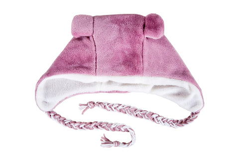 Winter Beanies / Girls - Pink Bear Beanie - M0294