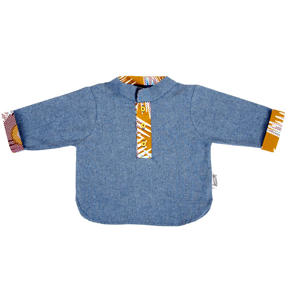 Shirt / Boys - Denim and Ethnic Trim - M0300