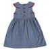 Dress / Girls - Denim and Pink Wax Cloth - M0303