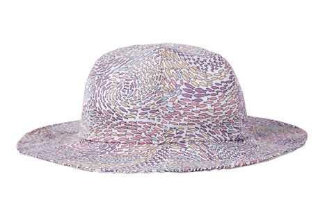 Hat / Girls - Pink Fish Swirl - M0313